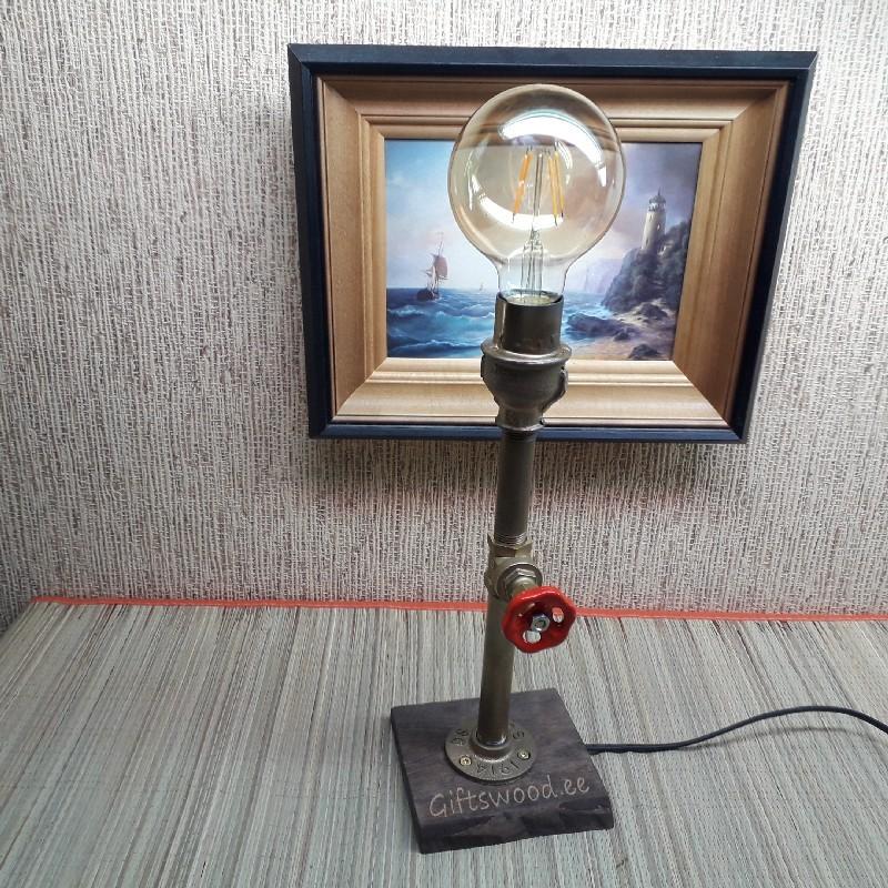 Käsitöö lamp  kraan on lüliti personaalse graveeringuga