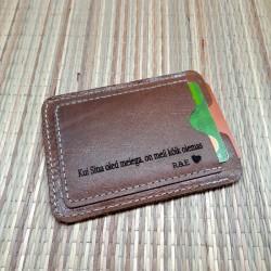Кожаный кошелёк для карт с...