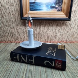 Vintage books lamp