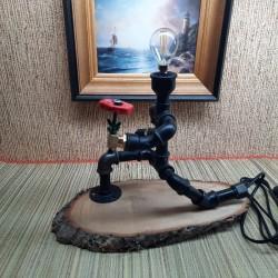 Лампа из труб  на заказ
