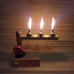 Маслянная лампа из труб с...