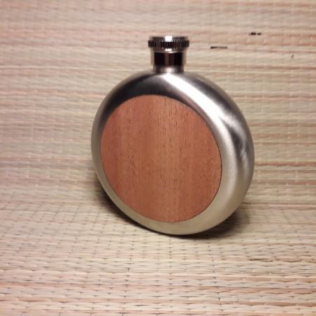 Plasku 5oz ümargune puit spoon viimistlus personaalse graveeringuga