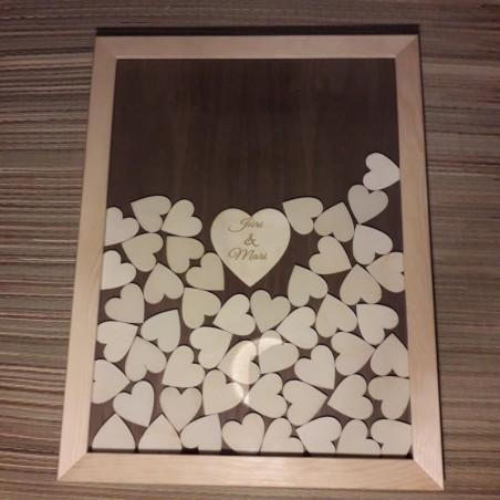 Personaliseeritud puidust pulma külaliste raamat