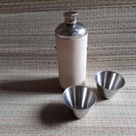 Plasku  ümar puit spoon viimistlus personaalse graveeringuga