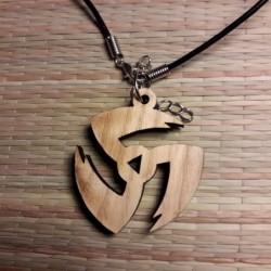 Деревянный медальон  с...