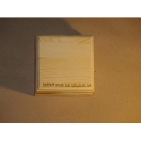 Деревянная подарочная коробка Размер - 9 x 9 x 5 cmс индивидуальной гравировкой
