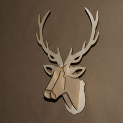 3D голова оленя из фанеры с...