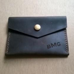 Кожаный кошелёк с...