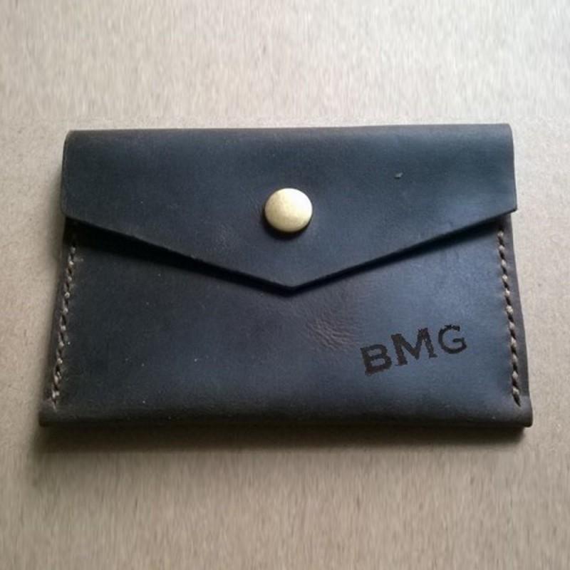 Кожаный кошелёк с индивидуальной гравировкой