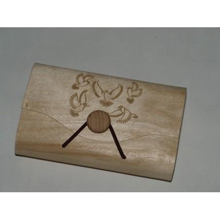 Puidust Kinkekarp 8 x 13 x 3,5 cm personaalse graveeringuga