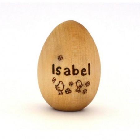 Puidust muna personaalse graveeringuga
