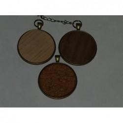 Деревянный медальон 40mm с...