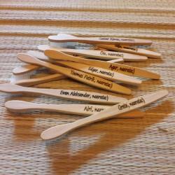 ECO bambusest hambahari personaalse graveeringuga