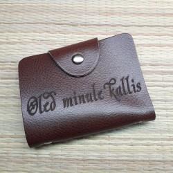 Кожаный кошелёк для карт...