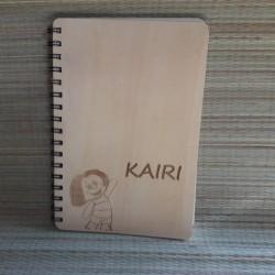 Деревянная записная книжка с индивидуальной гравировкой