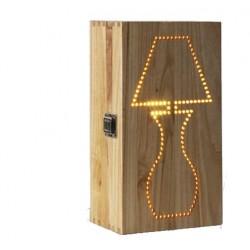 Деревянная лампа коробка...