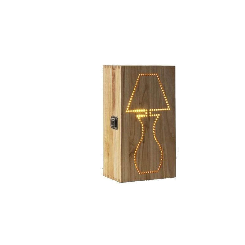 Puidust käsitöö lamp karp personaalse graveeringuga
