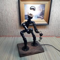 Лампа из труб  робот с...