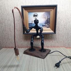 Лампа из труб  рыбак с...
